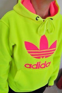 Adidas Trefoil Women Neon Sweatshirt Hoodie - Neon Yellow - by adidas, http://www.amazon.com/dp/B00CALJUJE/ref=cm_sw_r_pi_dp_IIw5rb0QRSJ1V