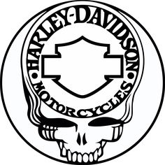 Stencil Vinyl, Stencil Painting, Vinyl Decals, Paint Stencils, Harley Davidson Images, Harley Davidson Logo, Coloring Pages For Girls, Coloring Books, Easy Tattoos To Draw
