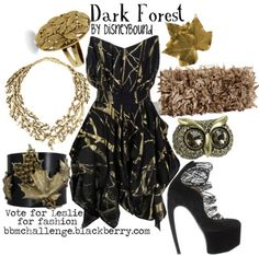 dark forest outfit inspired by #snowwhite. those shoes, though...wow.