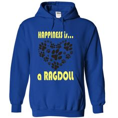 Happiness is a Ragdoll T-Shirts, Hoodies. VIEW DETAIL ==► https://www.sunfrog.com/Pets/Limited-Edition-Happiness-is-a-Ragdoll-RoyalBlue-27857465-Hoodie.html?id=41382
