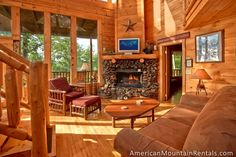 Whispers - A gorgeoous 2 Bedroom Cabin for Rent in Pigeon Forge TN