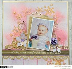 "s The Most Wonderful Time of Year"" by Alicia McNamara Design Team Kaisercraft using 'Christmas Wishes' collection ~ Wendy Schultz ~ Christmas Layouts. Scrapbook Page Layouts, Diy Scrapbook, Scrapbook Albums, Scrapbooking, Diy Paper, Paper Crafts, Tim Holtz Distress Ink, Craft Stash, Christmas Wishes"