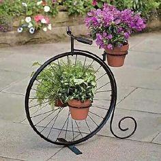 Bicycle planter.