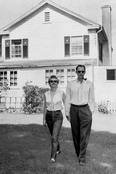 Marilyn with husband Arthur Miller in Roxbury,Ct 1956
