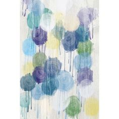PTM Images Drippin Dots Painting Print on Wrapped Canvas