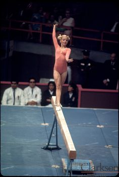 Cathy Rigby - first American woman to win a medal at a world championship event.