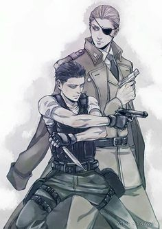 Levi and Erwin. Erwin and Levi lookin fine as hell  credit to owner