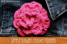 Free Flower Crochet Pattern start with 42 stitches for smaller flower