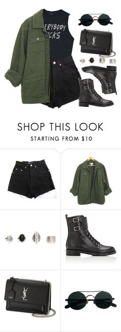 """Sin título #13252"" by vany-alvarado ❤ liked on Polyvore featuring Humör, Gianvito Rossi and Yves Saint Laurent"