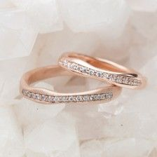 Rose Gold Stacking Rings {10K Rose Gold} by Lisa Leonard