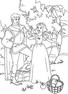 Colouring Sheets Disney Princess Snow White Free Printable For Preschool #20815.