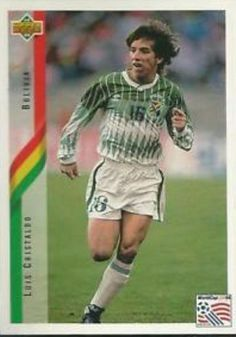 Luis Cristaldo of Bolivia. 1994 World Cup Finals card.