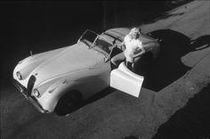 Jayne Mansfield - 1956 Jaguar XK120