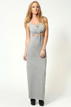 Hayley knot front sleeveless maxi dress