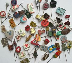 Vintage European food pins = most awesome things EVER!