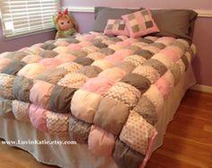 Puff Quilt Bubble Quilt Bubble Blanket Bedding Set by LuvinKatie
