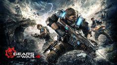 JD Fenix Kait Diaz and Delmont Gears of War 4 Sci-Fi Wallpaper