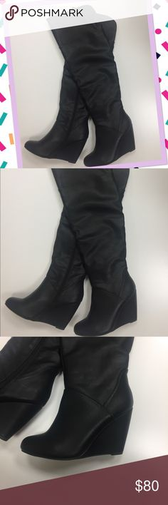"🎉Drop Price Charlotte Russe Over Knee Boots # 6 Charlotte Russe Knee Boots Size 6 Condition: New never used Size: 6 Length: 22"" Heel: 3.5"" Charlotte Russe Shoes Over the Knee Boots"