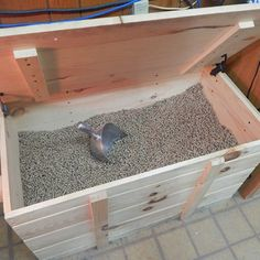 Made from quality pine, this wood pellet storage bin can be used to store firewood, blankets, toys, and more. Get the storage container for your home today! Linen Storage, Diy Storage, Best Pellet Stove, Cedar Boards, Pallet Storage, Wood Pellets, Linen Cabinet, Rabbit Food, Stoves