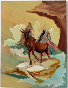 'Prophet' by David Eager Maher | Oil on board  -  'God's Hotel' Exhibition 5 September - 27 September