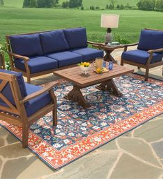 Our deep-seating Claremont Eucalyptus Sofa now features a deeper, richer finish and thicker, tailored cushions. Crafted from FSC-certified eucalyptus gra… Outdoor Wood Furniture, Patio Furniture Sets, Wicker Furniture, Outdoor Seat Cushions, Outdoor Seating, Wicker Coffee Table, Polywood Adirondack Chairs, Luxury Cushions, Extension Dining Table