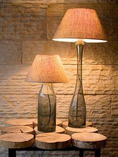 Designerska lampa stołowa z abażurem stalowa