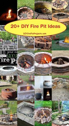 20+ DIY Fire Pit Ideas 2                                                       …
