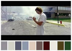 Cinema Palettes: Color palettes from famous movies - The Dark Knight Movie Color Palette, Colour Pallete, Color Palettes, Colour Schemes, Christopher Nolan, Cinema Colours, Color In Film, The Royal Tenenbaums, Moonrise Kingdom