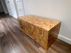 Banc d'entrée Osb avec tiroir Les Imparfaits Hope Chest, Storage Chest, Cabinet, Furniture, Design, Home Decor, Drawer, Home Ideas, Clothes Stand