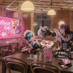Bang Bang, Moba Legends, Mobile Legend Wallpaper, Maid, Bangs, Anime Art, Geek Stuff, Avatar, Animation