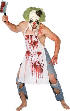 Precise Halloween Costume Horror Bloody Apron Butchers Chef Kitchen Unisex Cook Adult Novelty Fancy Dress Party Supplies Household Cleaning Protections