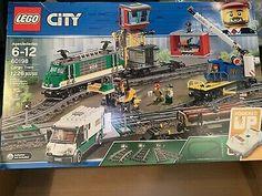 2018 LEGO CITY CARGO TRAIN 60198 *NEW AND SEALED, GREAT GIFT!! Lego City Cargo Train, Lego City Advent Calendar, Lego Trains, Training Materials, Geek Gear, Train Car, Lego Sets, Seal, Remote