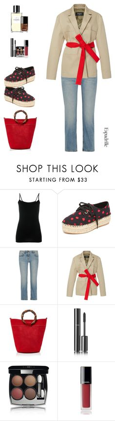 """""""Step Into Summer:Espadrilles!"""" by sereneowl ❤ liked on Polyvore featuring Joseph, Alice + Olivia, The Row, Rochas, Glorinha Paranagua and Chanel"""