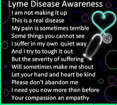 so glad I am in a better place with my Lyme spring 2013 was a horrible time for me......Lyme Disease Awareness!! <3