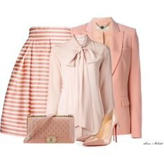 A fashion look from June 2016 featuring pink blouse, red jacket and midi skirt. Browse and shop related looks. Pink Outfits, Stella Mccartney, Streetwear Brands, Christian Louboutin, Luxury Fashion, Blouse, Calm, Polyvore, Collection