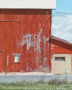 Painting - Hoop Dreams by Michael Ward , Hoop Dreams, Building Art, Photorealism, Booth Design, London, Places, Outdoor Decor, Northern Michigan, Paintings