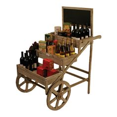 Roue Wine Cart from the French Market event at Joss and Main! tiered shelving in a nice cart design Farmers Market Display, Market Displays, Craft Show Displays, Store Displays, Rak Display, Display Ideas, Wine Cart, Coffee Carts, Flower Cart