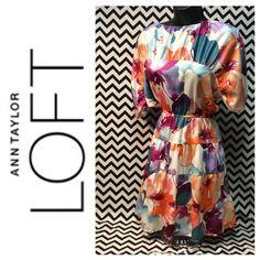 ⭕️️CLEARANCEWatercolor floral LOFT dress Size petite xxs fits more like a small LOFT Dresses Mini