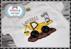 Personalized Tractor Embroidered Birthday Shirt ,Tractor Birthday, Birthday Shirt, Boys Shirt on Etsy, $24.00