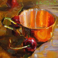 "Daily Paintworks - ""Copper Cup"" by Elena Katsyura"