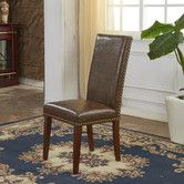 Found it at Wayfair - Traditional Waxed Texture Nail Head Parsons Chair
