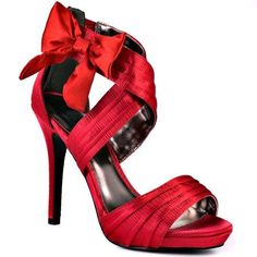 Red Wedding Shoes with a Bow