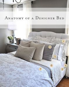 Have you ever opened a Pottery Barn catalog and just lusted over the  spaces, especially the perfectly put-together beds? You aren't the only  ones.If you crave a beautifully made bed, but just aren't sure how to  pullit all together, here is a simple 'recipe' to help you make your own  bed as pretty as a designer bed. Keep in mind that there are norules when  it comes to outfitting your bed, and the possibilities are endless. The  following are just general guidelines to help get you…