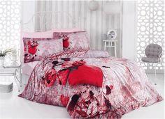 Lenjerii de pat 3 D : Lenjerie de pat bumbac satinat 3D Ask pentru 2 persoane     Lenjerii de pat