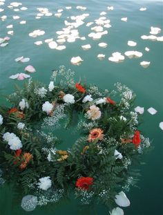 sea burial wreath - Google Search