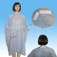 Disposable CUTTING CAPE for spa,salon,hairdresser's