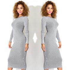 Grey sweaterdress