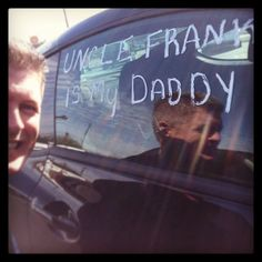 http://www.FrankMyersAutoReviews.com - A former #FrankMyersAuto Team member visited the store today. We had a little fun & wrote this on his car. :)