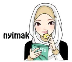 Buat chat kamu lebih asyik dengan Hijab Gaul Stiker :D