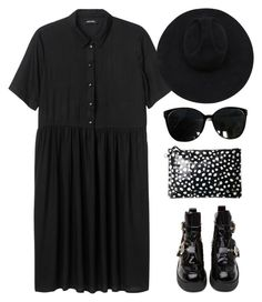 """""""Witchxhunt"""" by mywayoflife ❤ liked on Polyvore featuring Moschino, Monki, Jérôme Dreyfuss, Jeffrey Campbell, Gladys Tamez Millinery, women's clothing, women, female, woman and misses"""